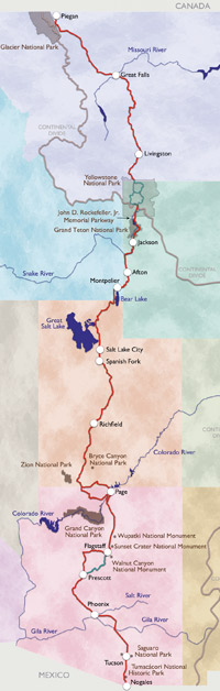 US Highway - Us route 89 map